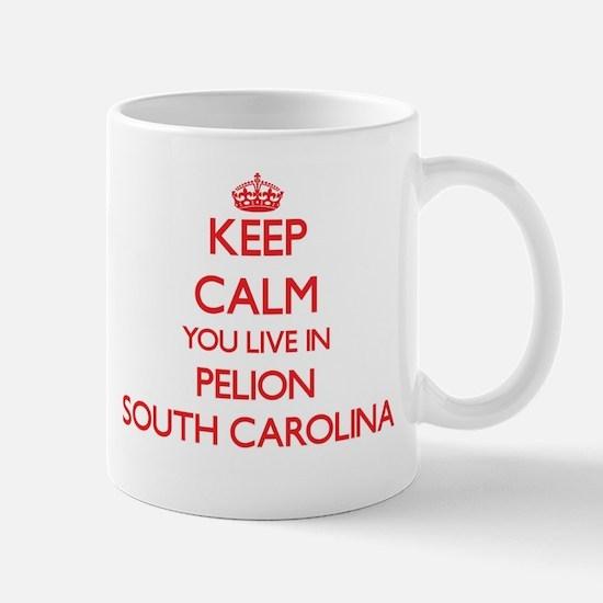 Keep calm you live in Pelion South Carolina Mugs