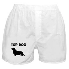 Longhair Dachshund - top dog Boxer Shorts