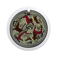 Reindeer Celtic Knot Ornament (Round)