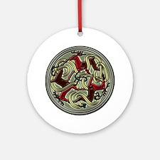 Reindeer Celtic Knot Ornament (Round)