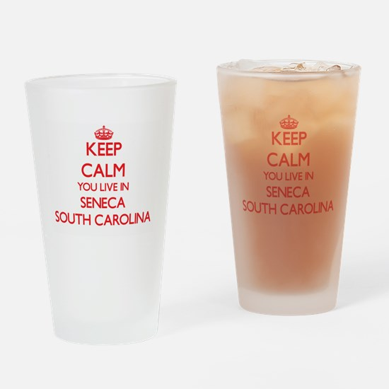 Keep calm you live in Seneca South Drinking Glass