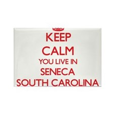 Keep calm you live in Seneca South Carolin Magnets