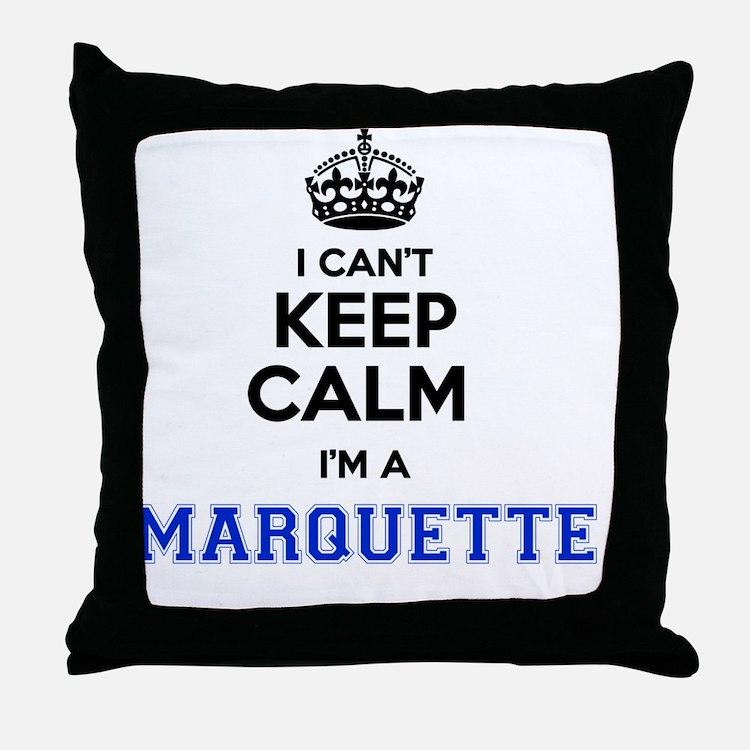Cute Marquette Throw Pillow