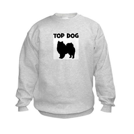 American Eskimo - top dog Kids Sweatshirt