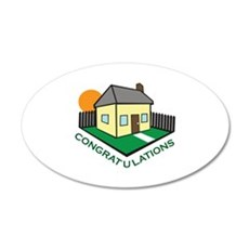 NEW HOME CONGRATS Wall Decal