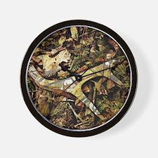 camouflage deer antler Wall Clock