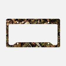 camouflage deer antler License Plate Holder