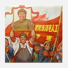 We Love Mao Tile Coaster