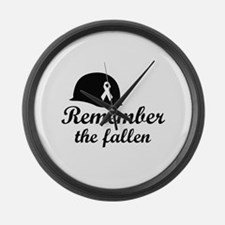 REMEMBER THE FALLEN Large Wall Clock