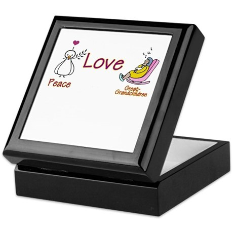 PEACE LOVE & GRANDKIDS Keepsake Box
