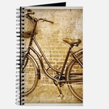 vintage Bicycle retro art Journal