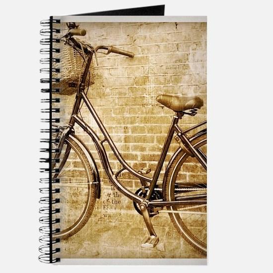 vintage Bicycle retro art Journal