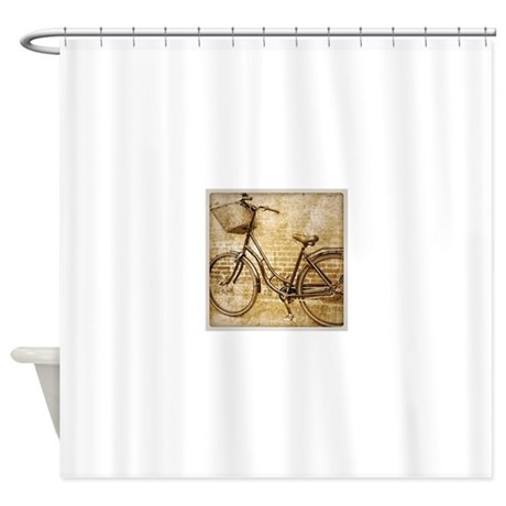 Vintage Bicycle Retro Art Shower Curtain By Admin Cp62325139