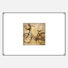 vintage Bicycle retro art Banner