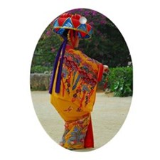 Okinawan Dancer Oval Ornament