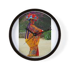Okinawan Dancer Wall Clock