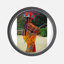 Okinawan Dancer Wall Clock