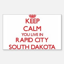 Keep calm you live in Rapid City South Dak Decal