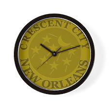Crescent City Lid Wall Clock