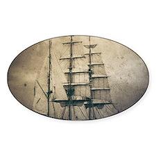 vintage pirate ship landsca Decal