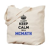 Keep calm mcmath Canvas Totes