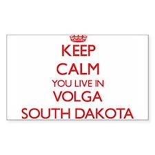 Keep calm you live in Volga South Dakota Decal