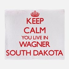 Keep calm you live in Wagner South D Throw Blanket