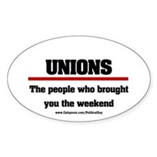 Union Weekend Oval Decal