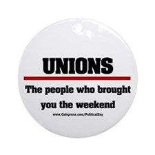 Union Weekend Ornament (Round)