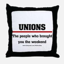 Union Weekend Throw Pillow