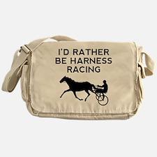 Id Rather Be Harness Racing Messenger Bag
