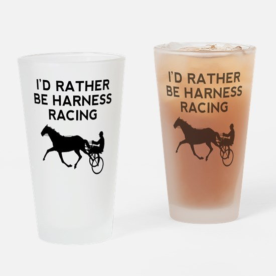 Id Rather Be Harness Racing Drinking Glass