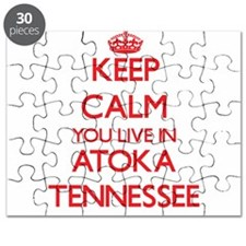 Keep calm you live in Atoka Tennessee Puzzle