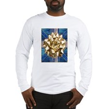 Golden Gift Bow Long Sleeve T-Shirt