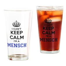 Funny Mensch Drinking Glass