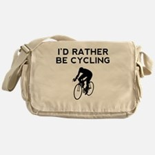 Id Rather Be Cycling Messenger Bag