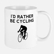 Id Rather Be Cycling Mugs