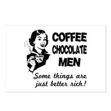 Coffee, Chocolate, Men Postcards (Package of 8)