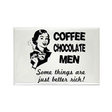 Coffee, Chocolate, Men Rectangle Magnet