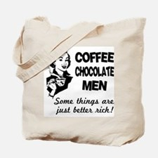 Coffee, Chocolate, Men Tote Bag