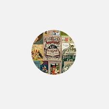 Vintage Book Cover Illustrations Mini Button (100