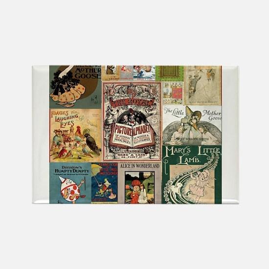 Vintage Book Cover Illustrations Magnets