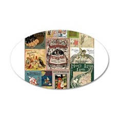 Vintage Book Cover Illustrations Wall Decal