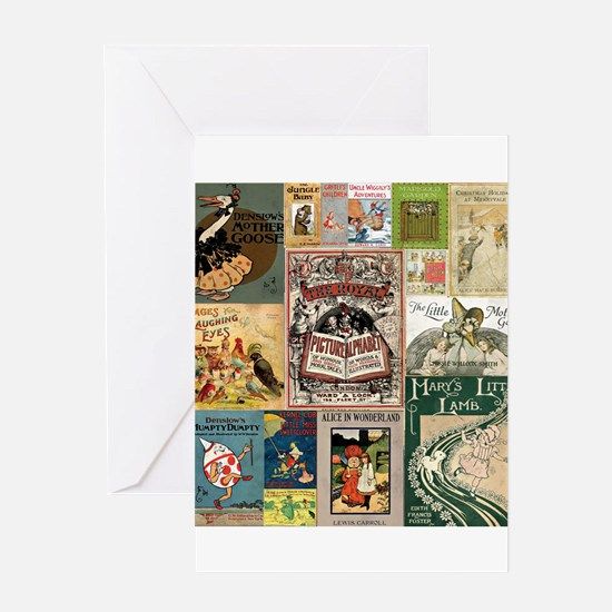 Vintage Book Cover Illustrations Greeting Cards
