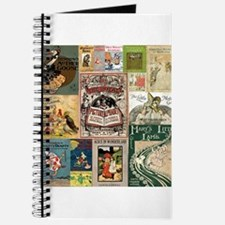 Vintage Book Cover Illustrations Journal