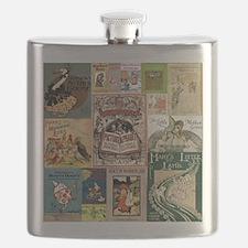 Vintage Book Cover Illustrations Flask