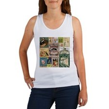 Vintage Book Cover Illustrations Tank Top