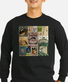 Vintage Book Cover Illustrations Long Sleeve T-Shi