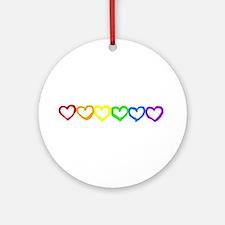 Rainbow of hearts Ornament (Round)