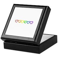 Rainbow of hearts Keepsake Box